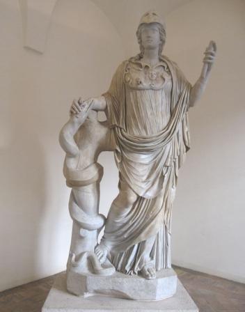 Scultura di Minerva Igea. Fonte immagine: http://roma.mysupersite.it/